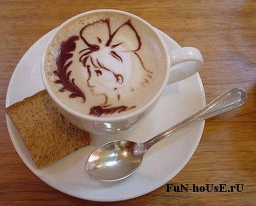Рисунки на молочной пене: Рис.15