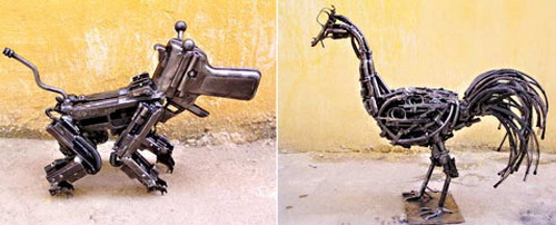 Скульптуры из оружия: Рис.11