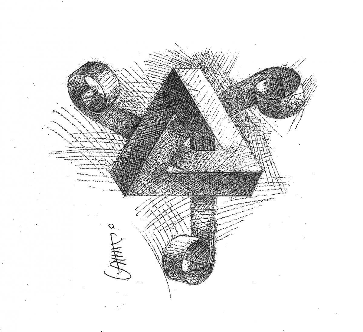 Рисунки зрительных иллюзий Юрия Санникова