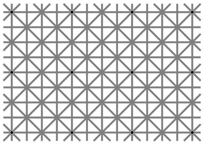 На этой картинке 12 точек, но вы вряд ли увидите их все одновременно